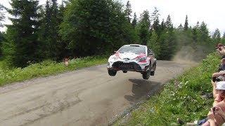 WRC Rally Finland 2017 SS16 Ouninpohja Sideways Jump