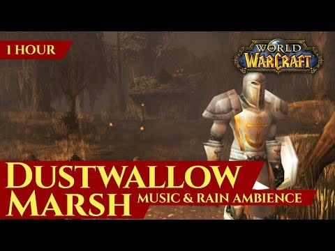 Vanilla Dustwallow Marsh - Music & Rain Ambience (World of Warcraft Classic)