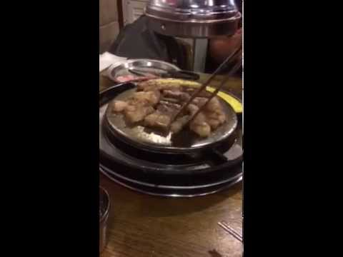 Korean BBQ pork belly @ Myeongdong