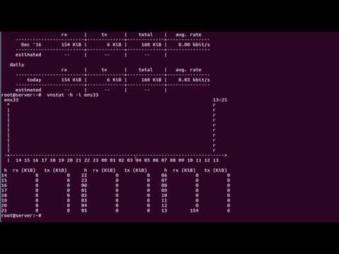 How to Setup vnStat Network Traffic Monitor on Linux