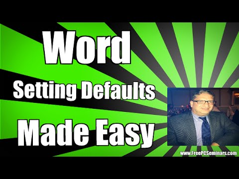 How To Set Default Font Size & Margin Settings Microsoft Word 2010 , Word 2013, Word 2007 Word 2016