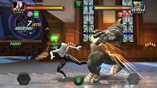 Spider-Gwen vs Rhino Aspect of War node Act6.1.4