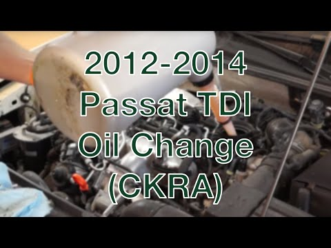 2012-2014 Passat TDI Oil Change (CKRA)