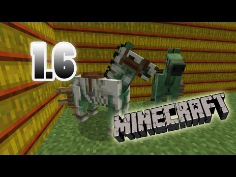 MineCraft 1.6 SnapShot Skeleton Armor, Zombie Horse Breeds, 13w21a!