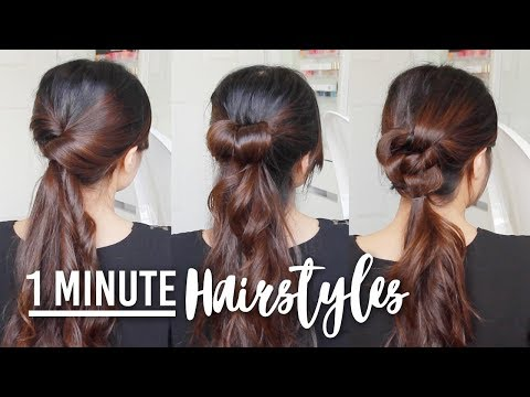 1 Minute Running Late Hairstyles | Quick & Easy Hair Tutorials