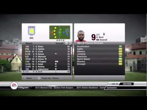 FIFA 12: How to play with Aston Villa - Tips and Tricks - Team of the Week 5 - Gameplay/Commentary