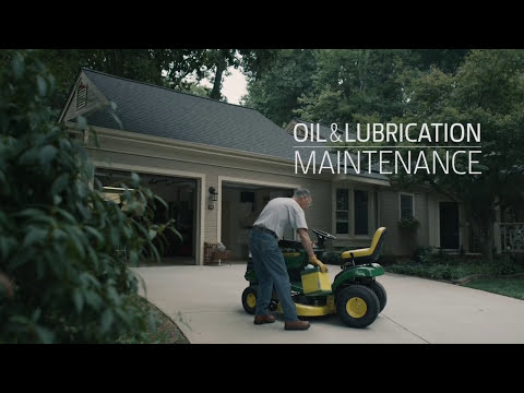 How To Change Oil & Oil Filter | John Deere D100 Lawn Tractor Maintenance