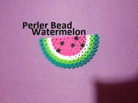 How to Make a Perler Bead Watermelon