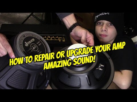 HOW TO INSTALL A SPEAKER IN GUITAR AMP