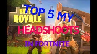 (Inhuman REACTIONS!)TOP 5 my headshoots in Fortnie + BONUS