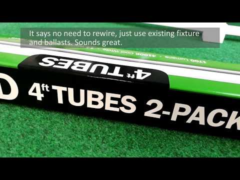 How To Replace Fluorescent Lamps with FEIT LED Tubes from Costco