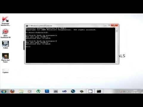 Lock/Unlock Folders Using CMD NO Software Needed