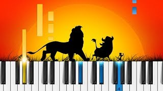 Hakuna Matata - Piano Tutorial - Disney