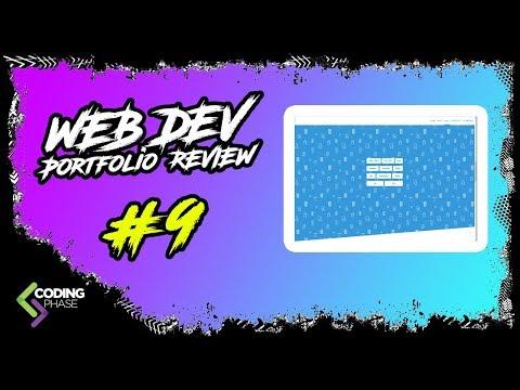 Web Developer Portfolio Review #9