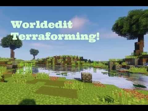World edit Tutorial - Brush Cylinder Plains Terraforming