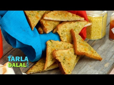 Yellow Moong Toast with Potatoes by Tarla Dalal
