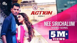 Action | Nee Sirichalum Video Song | Vishal, Tamannaah | Hiphop Tamizha | Sadhana Sargam | Sundar.C