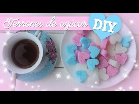 Como hacer terrones de azúcar (microondas)/ DIY sugar cubes