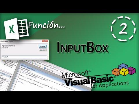 Función InputBox | VBA Excel 2013 #2