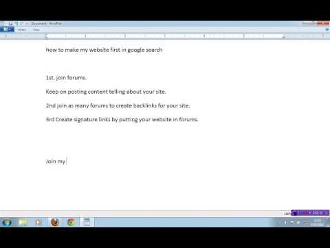 how to make my website first in google search