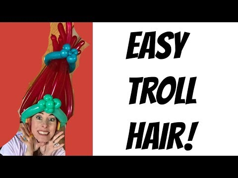 Easy Poppy troll hair balloon tutorial!