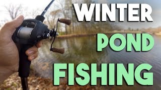 Winter Pond Fishing