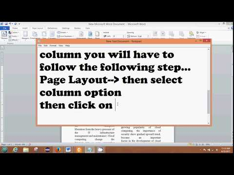 Single and Double Column Text View in MS Word 2010