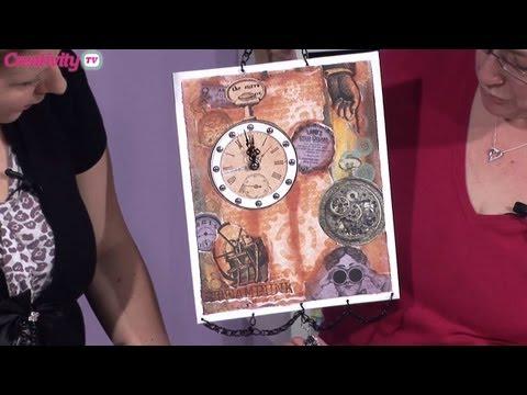 Steampunk Clock Project   docrafts Creativity TV