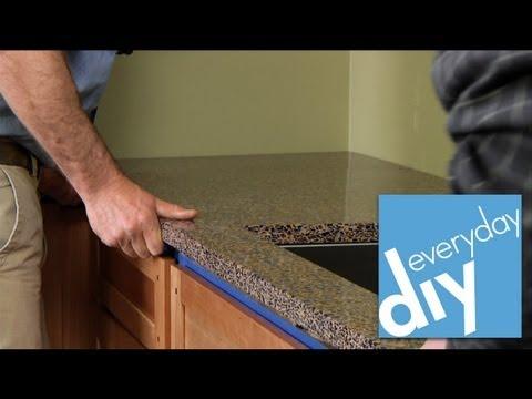 How to Install a Kitchen Countertop -- Buildipedia DIY
