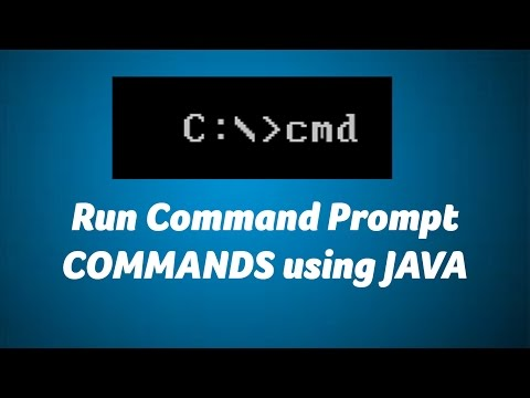 Run Command Prompt CMD commands from JAVA J2EE projects