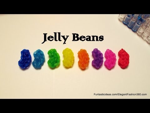 Rainbow Loom Jelly Beans Charm - How to - Candy Crush