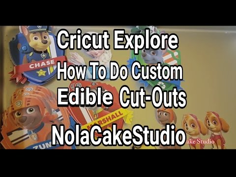 Cricut Explore Tutorials: Custom Edible Cut-Outs For Parties