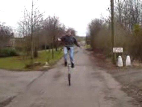 me on big unicycle