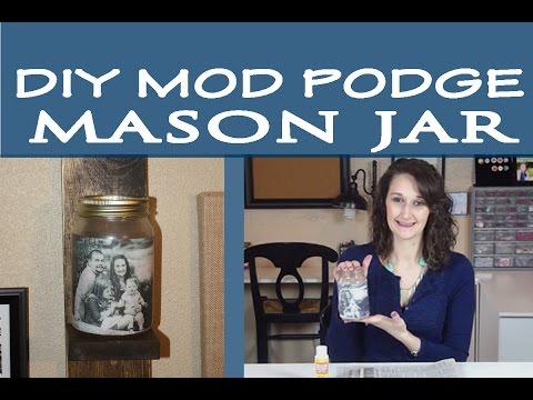 Mod Podge Mason Jar   #19
