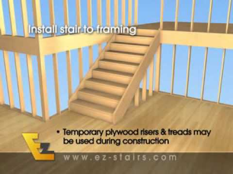 Build Quality Finished Interior Stairs / Basement Stairs Quickly and Easily.