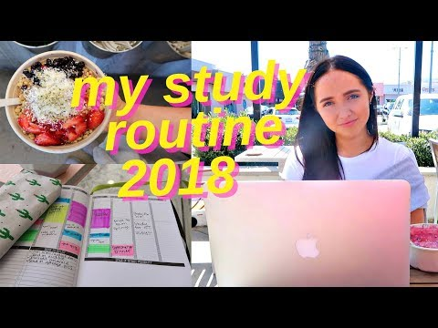 my study routine   study with me for finals 2018