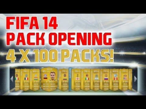 FIFA 14 - 4 x 100k PACKS!