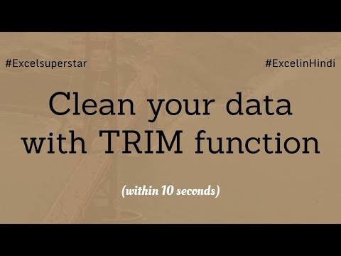 TRIM Function remove excess space in Excel | Hindi