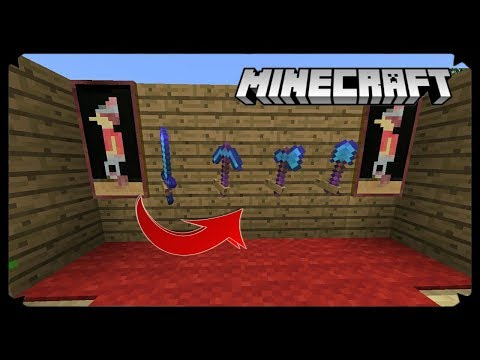 How To Make Working Tool Rack In MCPE !!! Minecraft PE 1.2