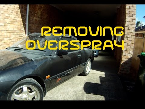 How to get rid of Overspray