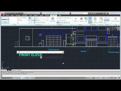 Create Text and Dimensions — AutoCAD LT 2012