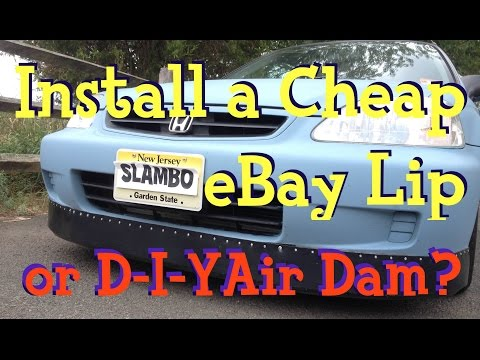 How-To: Install a Cheap Ricer eBay Lip or D-I-Y Front Air Dam? - Honda Civic Build - Ain't Fuelin'