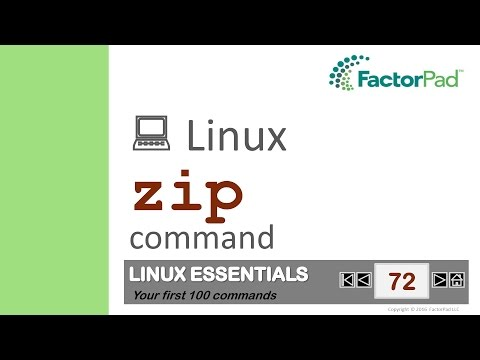 Linux zip command summary with examples