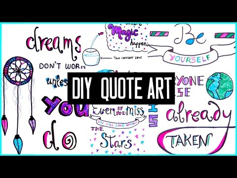 DIY motivational quote art for back to school! To decorate your binder & more! Tumblr inspired