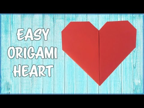 How to make an Origami Heart - Easy  fold by fold  paper instructions!