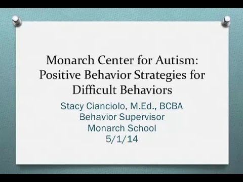 Positive Parenting Strategies for Difficult Behaviors exhibited by Children on the Autism Spectrum