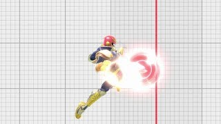 Smash Ultimate Captain Falcon Hitboxes & Frame by Frame
