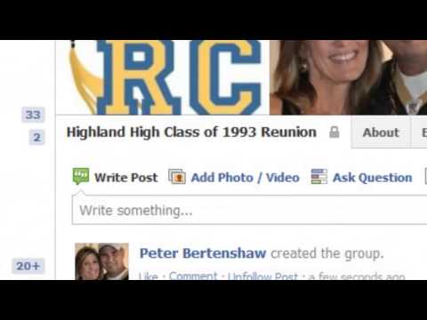 Managing Social Media for High School Class Reunion