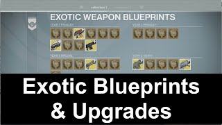 New exotic weapon blueprints in destiny rise of iron year 3 daikhlo destiny how exotic blueprints work exotic upgrades malvernweather Image collections