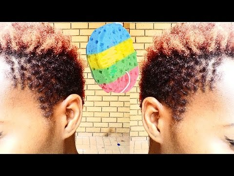 how i twist/ coil my taperd  hair cut  with a sponge in Easywaves South Africa